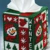 ชุดปักแผ่นเฟรมกล่องทิชชูลายตุ๊กตาหิมะ