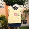 ชุดเซทเสื้อลายดอกไม้+กางเกงยีนส์ size 24m