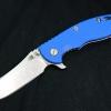 "RHK XM18 3.5"" Skinner Stonewashed Blade Blue G-10"