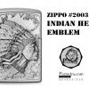 """ไฟแช็ค Zippo ชายชนเผ่า อินเดียแดง """"Zippo Indian Head Emblem #2003536 """" แท้นำเข้า 100%"""