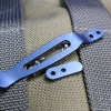 XM and Eklipse Pocket Clip and Filler Tab Blue Anodized