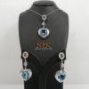 จี้และต่างหูบลูโทปาซ Pendant & Earring blue topaz