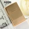 """ไฟแช็ค Zippo แท้ สีทองอร่าม สลัก Solid Brass """" Zippo 254 Regular High Polished Brass"""" แท้นำเข้า 100%"""