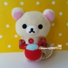 NEW! ตุ๊กตาหมีขาว โคริลัคคุมะ / โครีแลคคุมะ Korilakkuma holding red pot rilakkuma egg kitchen series มาพร้อมป้ายห้อย