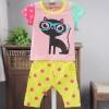 Babycity-ชุดเซ็ตลายแมวเสื้อสีชมพู แพ็ค 4 ชุด [size: 6m-1y-18m-2y]