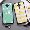 เคส Huawei Mate 9 พลาสติก TPU ยืดหยุ่นได้สกรีนลายน่ารักมากๆ + แหวนที่ตั้งและสายคล้อง ราคาถูก
