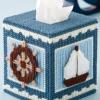 ชุดปักแผ่นเฟรมกล่องทิชชูลายกะลาสีเรือ