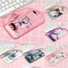 เคส iPhone 7 Plus (5.5 นิ้ว) ซิลิโคน soft case สกรีลายน่ารักๆ พร้อมแหวานมือถือและสายคล้องเข้าชุดกัน ราคาถูก