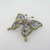 เข็ดกลัดผีเสื้อพลอยอเมทิสต์ (Amethyst and fancy gems brooch)