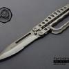 มีด Smith and Wesson มีดพับสนับชก มีดต่อสู้ระยะประชิด Tactical (OEM) แสตนเลสทั้งแท่งสีเงิน