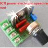 2000W SCR power speed regulator
