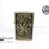 ไฟแช็คน้ำมัน ลายนูน รูปใบกัญชา The need for weed สำหรับคนชอบสมุนไพร