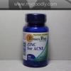 Puritan Zinc for Acne 50 mg 100 Tablets (ลดสิว) 1 กระปุก ราคา 450 บาท