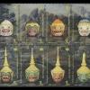 แสตมป์ชุด หัวโขนหนุมาน วันอนุรักษ์มรดกไทย ปี 2558 (ยังไม่ใช้)
