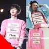 เสื้อแขนยาวสีชมพู Stone Water Piano แบบ Chanyeol