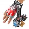 ถุงมือขี่จักรยานครึ่งนิ้ว HAND CREW SS-8-1(GEL)