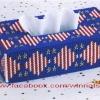 ชุดปักแผ่นเฟรมกล่องทิชชูทรงยาวลาย Liberty Star