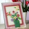 ชุดปักแผ่นเฟรมติดผนังลายแจกันดอกไม้