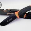 มีดใบตายเดินป่า Ganzo Hunting Survival Knife กานโซ่ รุ่น G-8012 OR สีดำตัดส้มรุ่นใหม่ ของแท้ 100%