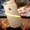เคส iPhone 6s Plus / 6 Plus (5.5 นิ้ว) ขอบเคสโลหะ Bumper + พร้อมแผ่นฝาหลังเงางามสวยจับตา ราคาถูก ราคาส่ง