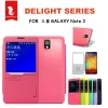 Hello Deree Flip Cover Case S View Note 3