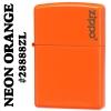 """ไฟแช็ค Zippo 28888ZL แท้ ที่สุดของสีแสดส้ม """"Zippo Logo, Neon Orange"""" แท้นำเข้า 100%"""