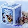 ชุดปักแผ่นเฟรมกล่องทิชชูลายหมีหิมะ