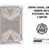 """ไฟแช็ค Zippo แท้ ศรจตุรทิศ """"Zippo 28808, Armor, Arrowhead Pattern, Deep Carved,"""" แท้นำเข้า 100%"""
