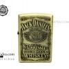 ไฟแช็คน้ำมัน ลาย สุรายี่ห้อ Jack Daniel's Jennessee Whisky สีทองเหลือง