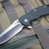 "RHK XM18 3.5"" Skinner 2-Tone Satin Blade Green/Black G-10"