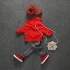 ชุดเซตสีแดงแต่งกระเป๋าด้านหน้า (เฉพาะเสื้อ+กางเกง) [size: 6m-2y]
