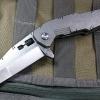 Quartermaster QSE-10 Biff Tannen Stonewashed Blade, Titanium Handles