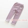 กางเกงเด็กปักโคนี่ที่กระเป๋าหลัง สีม่วงอ่อน [size 3y-4y]