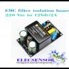 EMC filter isolation 220Vac to 12V/2A