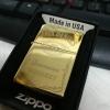 ไฟแช็ค Zippo ลายซิปโป้ ลาย Jack Daniel's Jennessee Whisky บอดี้สีทองอร่าม ตัวงาน Mirror
