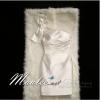 Pre-order ชุดราตรี สีขาว Pearl White บ่าเฉียง ทรงเข้ารูป ผ้าซาติน แต่งโบว์ที่ไหล่