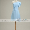 sale พร้อมส่ง ชุดราตรีสั้น สีฟ้าอ่อน ชุดเพื่อนเจ้าสาว Blue-001F