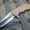 "RHK XM18 3.5"" Skinner 2-Tone Satin Blade Coyote G-10"
