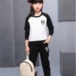 เสื้อ+กางเกง สีดำ แพ็ค 5 ชุด ไซส์ 110-120-130-140-150