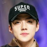 หมวกแฟชั่นเกาหลี หมวกเบสบอล EXO CHANYEOL SEHUN สีดำ