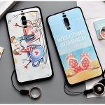 เคส Huawei Mate 9 Pro พลาสติก TPU ยืดหยุ่นได้สกรีนลายน่ารักมากๆ + แหวนที่ตั้งและสายคล้อง ราคาถูก