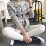 [Pre*order] SFH4441 เสื้อคลุมไหมพรม แขนยาว แบบคาร์ดิแกน ทอลายน่ารักๆ สไตล์เกาหลี Korean Style