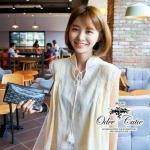 [พร้อมส่ง] เสื้อผ้าแฟชั่นเกาหลี เสื้อลุคแคชช่วลน่ารัก mix&match ได้หลายสไตล์ค่ะ เนื้อผ้า cotton ตัดต่อลูกไม้ลายน่ารักๆ
