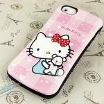 case iphone 5 เคสไอโฟน5 เคสซิลิโคนทรงเว้าลายคิตตี้น่ารักๆ สวยๆ The Iface Classic Hello kitty Silicone fabric phone sets