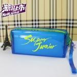 กระเป๋าดินสอเรืองแสง SUPER JUNIOR SJ สีน้ำเงิน