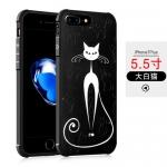 Case iPhone 7 Plus (5.5 นิ้ว) พลาสติก TPU มีความยืดหยุ่นในตัว สีดำสวยงามสกรีนลายกราฟฟิคต่างๆ ราคาถูก