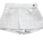 KGSK009 Kidsplanet Skort กระโปรงกางเกงสาวน้อย สีขาวสะอาดตา (ด้านหน้าเป็นประโปรงด้านหลังเป็นกางเกง) Size 12M