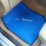 พรมกระดุมรถยนต์ Volvo S70 กระดุมสีฟ้าขอบดำ
