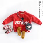 เสื้อ สีแดง แพค 5 ชุด ไซส์ 90-100-110-120-130