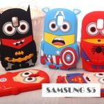เคสซัมซุง S5 Case Samsung Galaxy S5 ซิลิโคนมิเนี่ยนซุปเปอร์ฮีโร่แบทแมน ซุปเปอร์แมน ไสปเดอร์แมน -B-